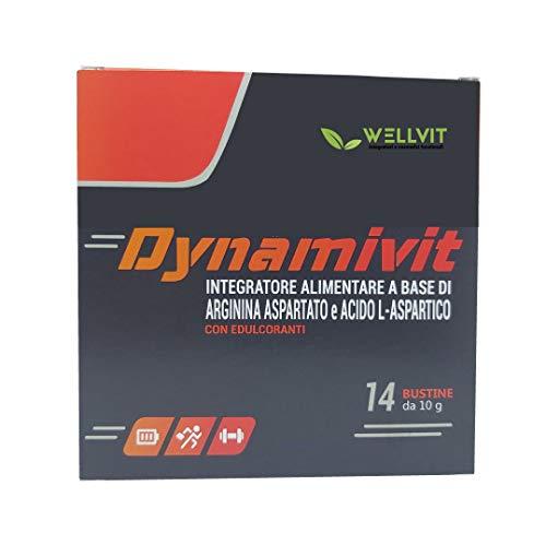 Dynamivit Integratore di Arginina - Utile per Massa Muscolare, Forza, Energia, Resistenza fisica e Mentale - A base di L-Arginina L-Aspartato, Acido L-Aspartico