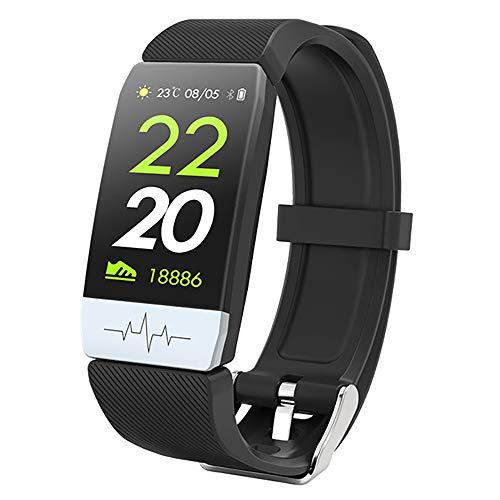 Bao Rui Sheng - Reloj inteligente para mujer y hombre, pulsera de actividad cardíaca, IP67, resistente al agua, podómetro, calorías