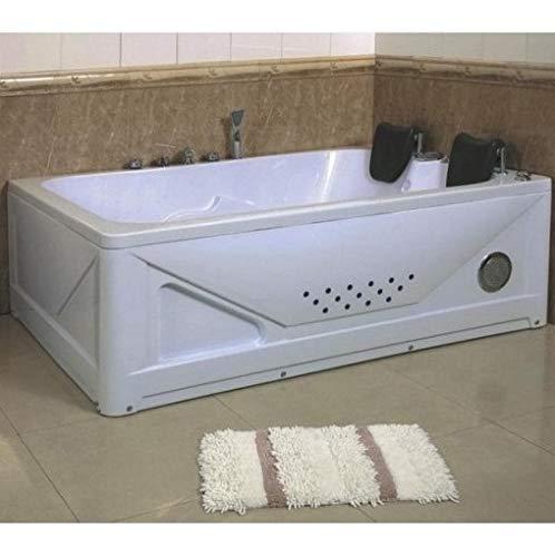Bagno Italia Bañera de hidromasaje de 170 x 120 cm, dos plazas, cromoterapia, bomba de aire y de agua