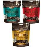 Merrick Power Bites Grain Free Soft Training Treats 3 Flavor Variety Bundle: (1) Real Beef Recipe, (1) Real Chicken Recipe, & (1) Turducken Recipe, 6 Oz. Ea.