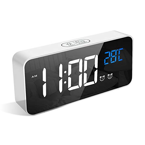 LATEC Reloj Despertador Digital, LED Pantalla Reloj Alarma I