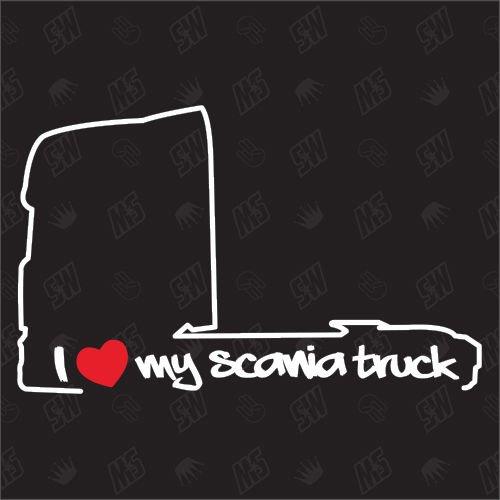 speedwerk-motorwear I Love My Truck - Sticker kompatibel mit Scania - Baujahr 1995