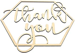 kdheart Wood Plaque Sign Wood Sign Hexagon Wooden Sign Hexagon Shape Wooden Thank You Wedding Supplies Bride and Groom Engagement Photography Props