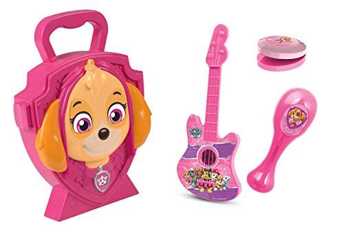 Jamara Sky 410104 Suitcase 4-Piece Musical Set with Musical Instruments Paw Patrol Design Skye Case Pink
