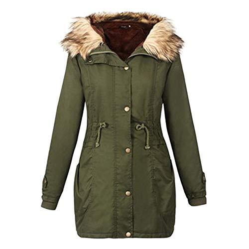 SHANGYI Winter Jas Dames en Dikke Katoen Lange Mode Dames Jas Hooded Winter Lange Jas Maat