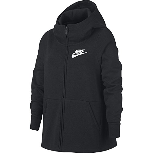 Nike Sportswear Sweat-Shirt Fille, Black/White, FR : S (Taille Fabricant : S)