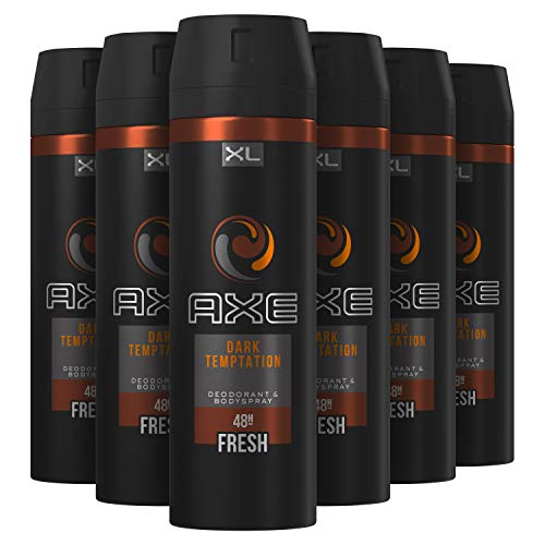 AXE Dark Temptation Bodyspray Deodorant 6 x 200 ml Voordeelverpakking