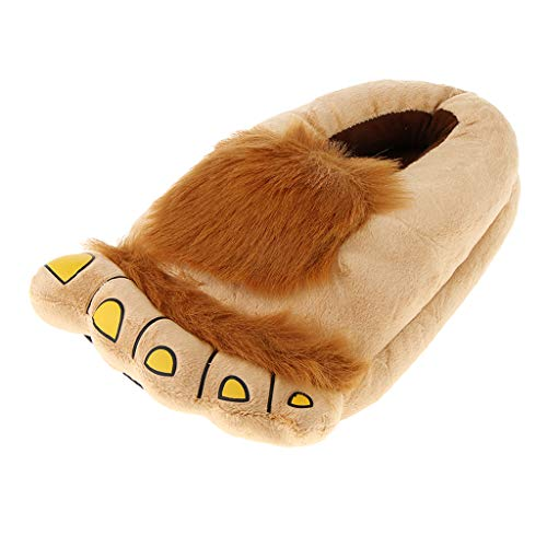 Baoblaze Neuheit Weihnachten Pelzigen Hobbit Bigfoot Hausschuhe Indoor Schuhe Für Männer, Frauen