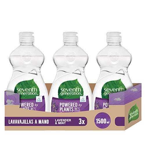 Seventh Generation Lavender Flower & Mint vaatwasser, handwas, 0% synthetische geurstoffen en kleurstoffen – 5 containers à 500 ml, in totaal 2500 ml