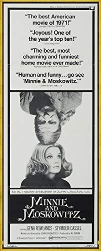 Berkin Arts Marco Cartel de película Lámina giclée sobre Lienzo-Cartel de la película Reproducción Decoración de Pared(Minnie y Moskowitz 3) #XLK