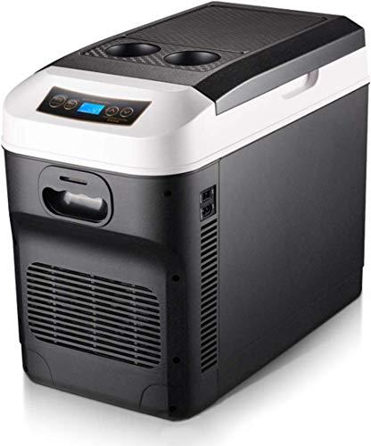 LLYU Control de Recorrido Caliente Frigorífico Pantalla Digital de Temperatura/fría del refrigerador del Coche eléctrico Nevera portátil congelador 28L 12V 24V 220VSuitable de Conductor de camión /