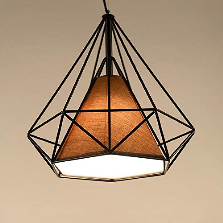 Eisen LED Kronleuchter, kreative Nachttischlampe Vogelkfig, Pyramide Restaurant Küche Balkon Gang Lichter (Farbe   SCHWARZ-38cm)
