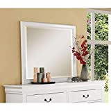 Mirror in White Decorative Rectangle Mirrors for Wall Decor Bathroom Mirror Hangs Horizontal or Vertical Size : 36' x 38'H