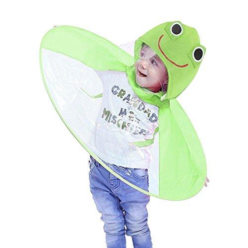 Innerternet Kind Regenjacke Netter Regenmantel für Männer und Junge Mädchen Regen Mantel Kleine Tier Headwear Regenschirm Hut Poncho Regencape Regenkleidung,Leichte Faltbare