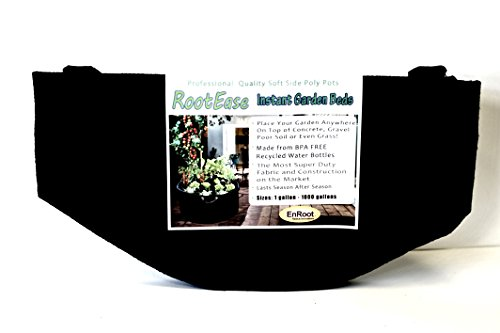 RootEase Garden Planting Aeration Fabric Container, Heavy Duty Durable Fabric Grow Pots, Perfect Harvest Planter, Raised Bed, Best Root Treatment Eco-Friendly Grow Bags (400 Gallon, Black)