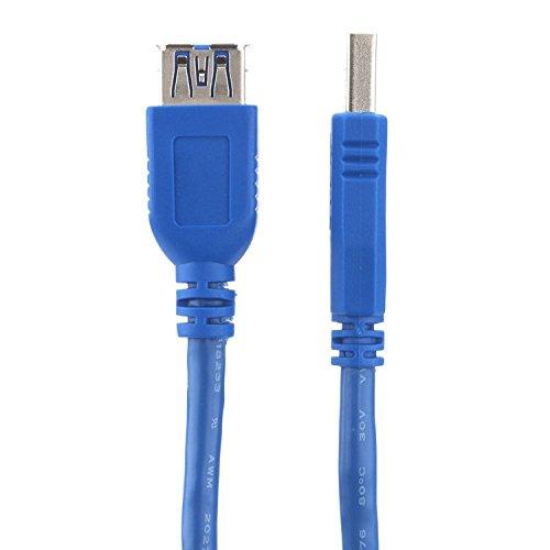 deleyCON USB 3.0 Super Speed Verlängerung Adapter Kabel 1m - A-Stecker zu A-Buchse - bis zu 5.000 Mbit/s