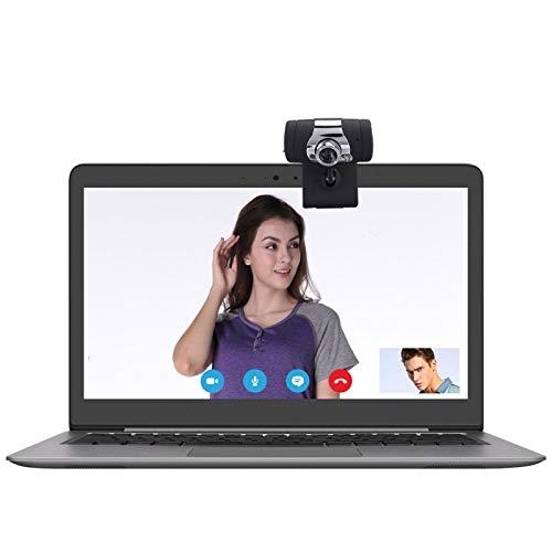 Shipenophy Webcam Red Multifuncional Cámara de PC ecológica Micrófono Incorporado con Base de Clip