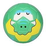 BORPEIN Mini Ballon de Football Professionnel de 15,2 cm pour Enfants Tout-Petits, Balle en Mousse de Style Animal forestier, Douce et rebondissante, Taille Parfaite pour Les Enfants, Crocodile