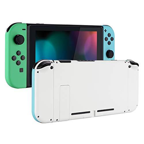eXtremeRate Case für Nintendo Switch Joycon,Hülle Gehäuse Schutzhülle Schale Tasche Kit für Nintendo Switch Konsole,NS Joycon mit Buttons, DIY-Ersatzschale für Nintendo Switch(Mintgrün&Himmelsblau)