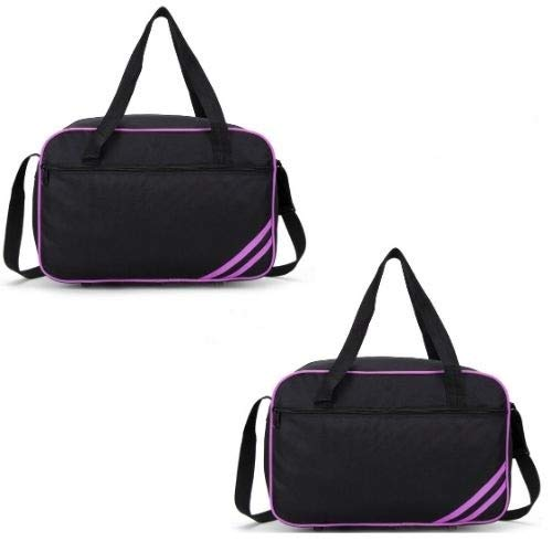 40x20x25 New and Improved 2019 Ryanair Maximum Sized Under Seat Cabin Holdall Black Purple Pack of 2
