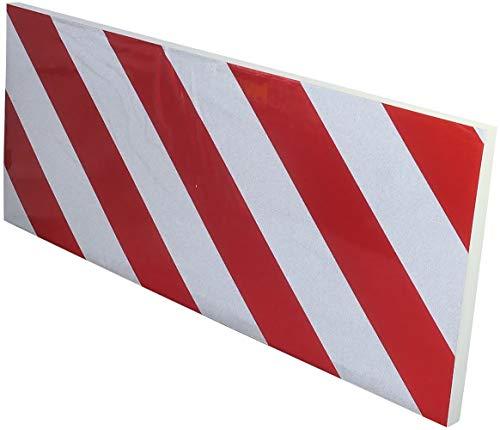 AERZETIX - Protector de Pared de ángulo del Garaje Autoadhesivo para Puertas de Coche - 200х500х15mm - de Goma - Reflectante Rojo y Blanco - C47183