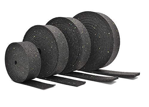 Terrassenpads Rollen 50 mm / 80 mm x 3mm 6mm 8mm 10mm 20mm | Unterleger aus Gummigranulat | Länge, Breite, Stärke und Menge auswählen (1, 5000mm x 80mm x 10mm)
