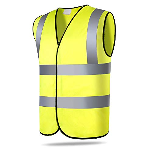Veiligheid Reflecterende Vest 2 STKS Heren Reflecterende Vesten Hoge Zichtbaarheid Veiligheid Vest Met Reflecterende Strip Set Hoge Zichtbaarheid Rits Voorzijde Ademende Veiligheid Ves