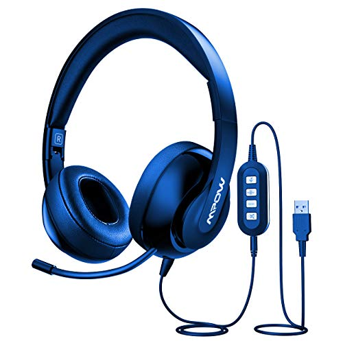 Review Of Mpow USB Headset with Monitoring Mode, 3.5mm Computer Headset with Noise Cancelling Microp...
