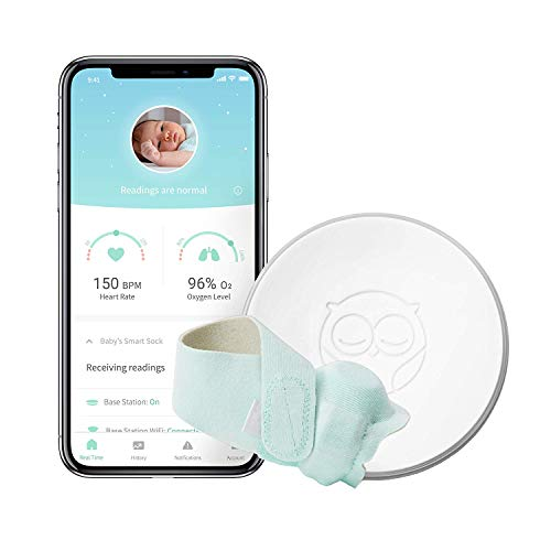 Owlet Smart Sock Baby Monitor | Clinically Proven Heartbeat and Oxygen Sensor | Track Your Baby's Heart Rate and Blood Oxygen Level | Mint Smart Sock