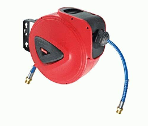 REPLOOD - Carrete de manguera de aire automático y retráctil, 10 m, presión de 10 bar, conexión de 1/4 pulgadas
