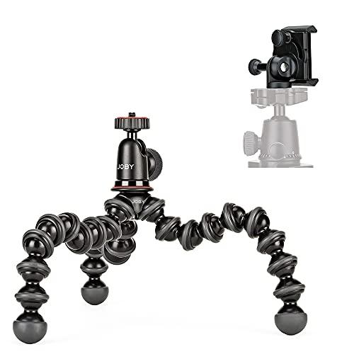 JOBY GorillaPod 1K GripTight Mount PRO Kit. Kompaktes, flexibles Stativ 1K & Kugelkopf 1K mit verriegelbarer Smartphone-Halterung, einfacher Quer- oder Hochformat-Modus. Trägt bis zu 1 kg