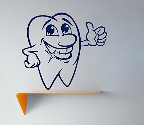 Muurstickers glimlachend Tand Decal Vinyl Sticker Tandheelkundige Kliniek Logo Kwekerij Decor