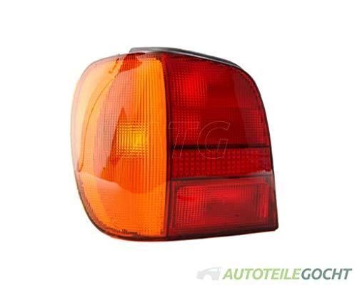 DEPO RÜCKLEUCHTE P21W LINKS FÜR VW POLO 6N 94-99 6N0945095, 6N0945095H, 6N0945111 VON AUTOTEILE GOCHT