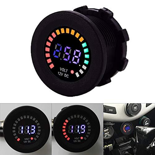 Allright 12V Auto KFZ Boot Motorrad LED Digital Voltmeter Wasserdicht Spannungsanzeige für Auto Motorrad LKW Boot Marine