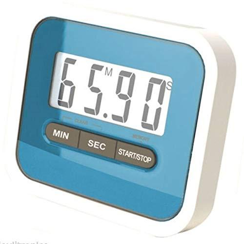 Führende 5Colors Leben Praktische Verwendung Digital Große LCD-Anzeige Home Küche Timer elektronische Küche Kochen Timer Stoppuhr (Color : Blue)