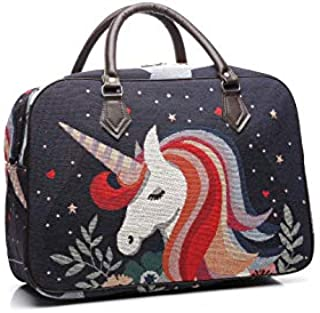 Unicorn Duffel Carpet Bag Tote Carry-on Travel Bag for Gym Office School