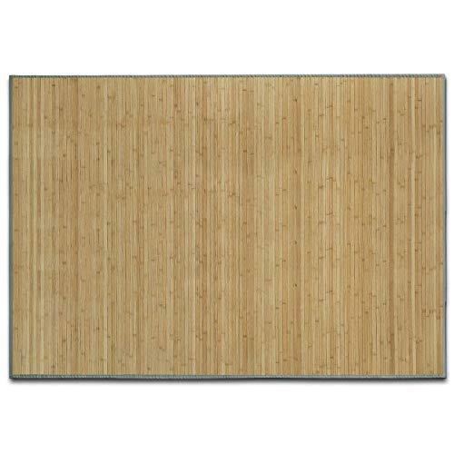 casa pura Alfombra de Bambú - Alfombras Naturales   Marigold   Estera de bambú Antideslizante   Varios tamaños a Elegir (Natural, 160x230 cm)
