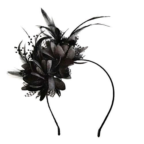 Frcolor Sombrero de boda fascinator flor flor tocado tocado cabeza pieza para...
