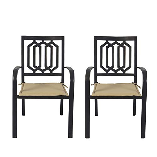 Kozyard Villa Outdoor Patio Dining Table Sets (2-Pack Wrought Iron Chairs)