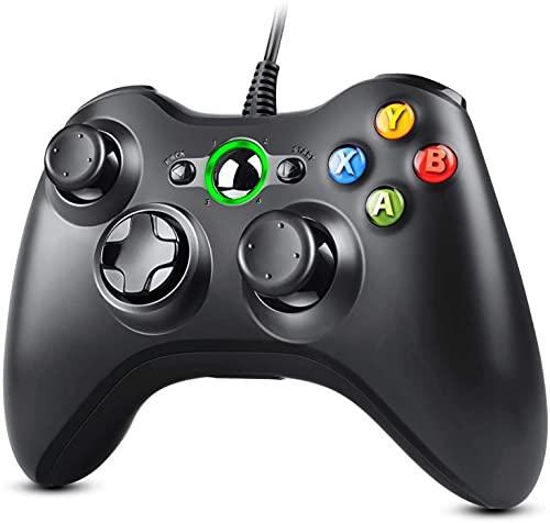 Zexrow Xbox 360 Game Controller, USB Wired Controller Gamepad di design ergonomico migliorato per Xbox 360 PC Windows 7/ 8 / 10