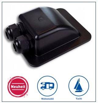 SOLARA® Premium Solar Dachdurchführung DD2 Kabeldurchführung schwarz, perfekt für SAT-Anlagen geeignet