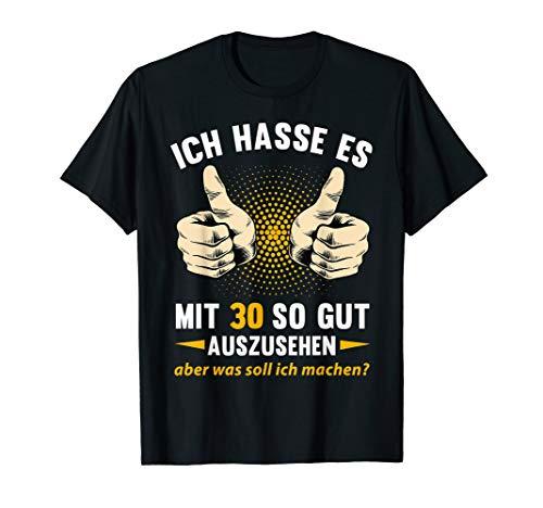 30. Geburtstag Mann Frau 1990 Damen Herren 30 Jahre Geschenk T-Shirt