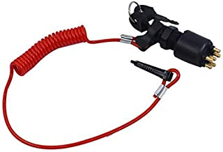WFLNHB Ignition Switch with Lanyard Fit for Johnson Evinrude Boat OMC BRP Outboard Motor 5005801