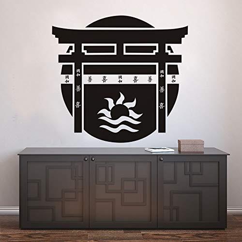 Tianpengyuanshuai wandsticker deur Torii wandlamp van vinyl cultuur huis lijm kunst decoratie slaapkamer muur
