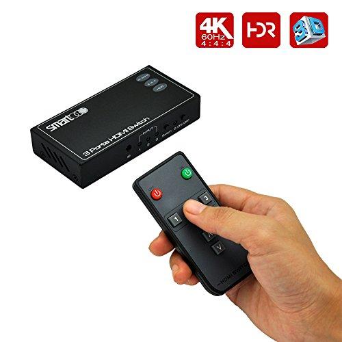 SMARTOOO 23031 4K@60Hz HDMI 2.0 HDMI Switcher 3x1| HDR 3 Ports HDMI Switch 3x1(3 inputs and 1...