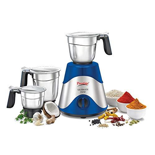 prestige ultimate plus 550 watt mixer grinder with 3 stainless steel jars