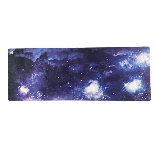 Esterilla de yoga Galaxy Nebula plegable de goma natural ecológica Esterilla de yoga Universo colorido para mujeres, hombres, niños, principiantes