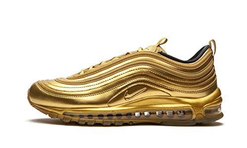 Nike Herren Air Max 97 QS Leder-Turnschuhe, gold-metallic, 42.5 EU