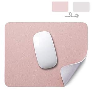 YingStar Alfombrilla de Ratón de Cuero PU Alfombrilla para Ratón Impermeable PU Leather Alfombrilla Raton Doble Cara 26 x 21 cm Mouse Mat Antideslizante Mouse Pad para Oficina PC Ordenador Juego