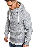 Rela Bota Mens Athletic Hoodies Fashion T-Shirts - Solid Color Hoodies Pullover Casual Sweatshirts